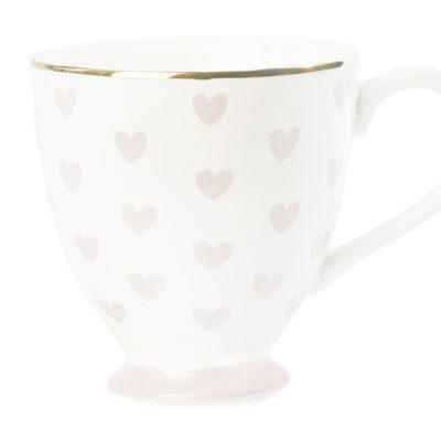 Krus med rosa hjerter