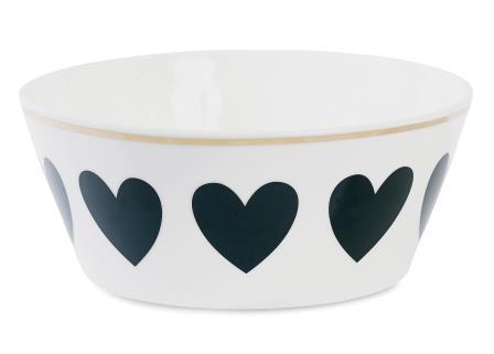 BW097 bowl black hearts